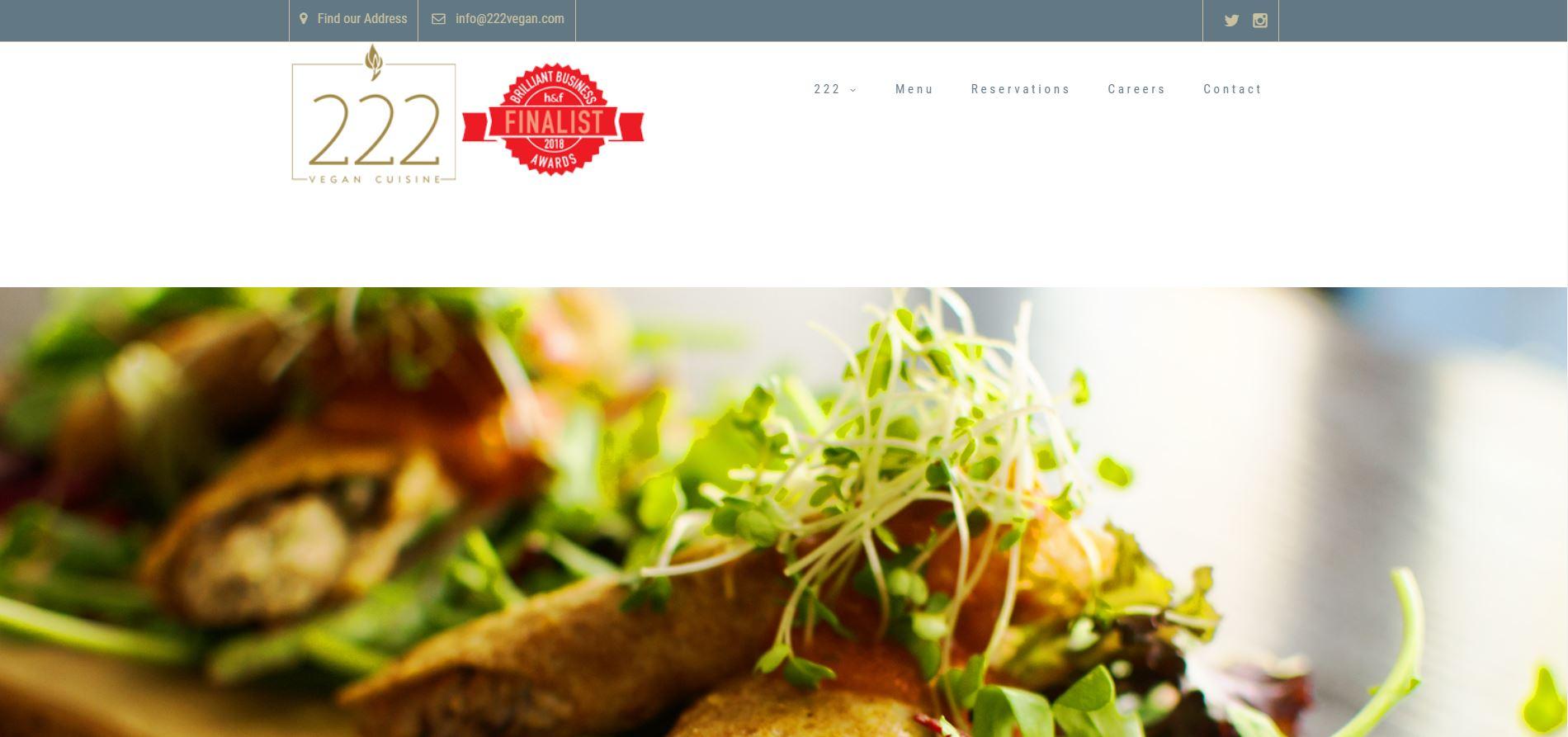 222 vegan cuisine, Kensington