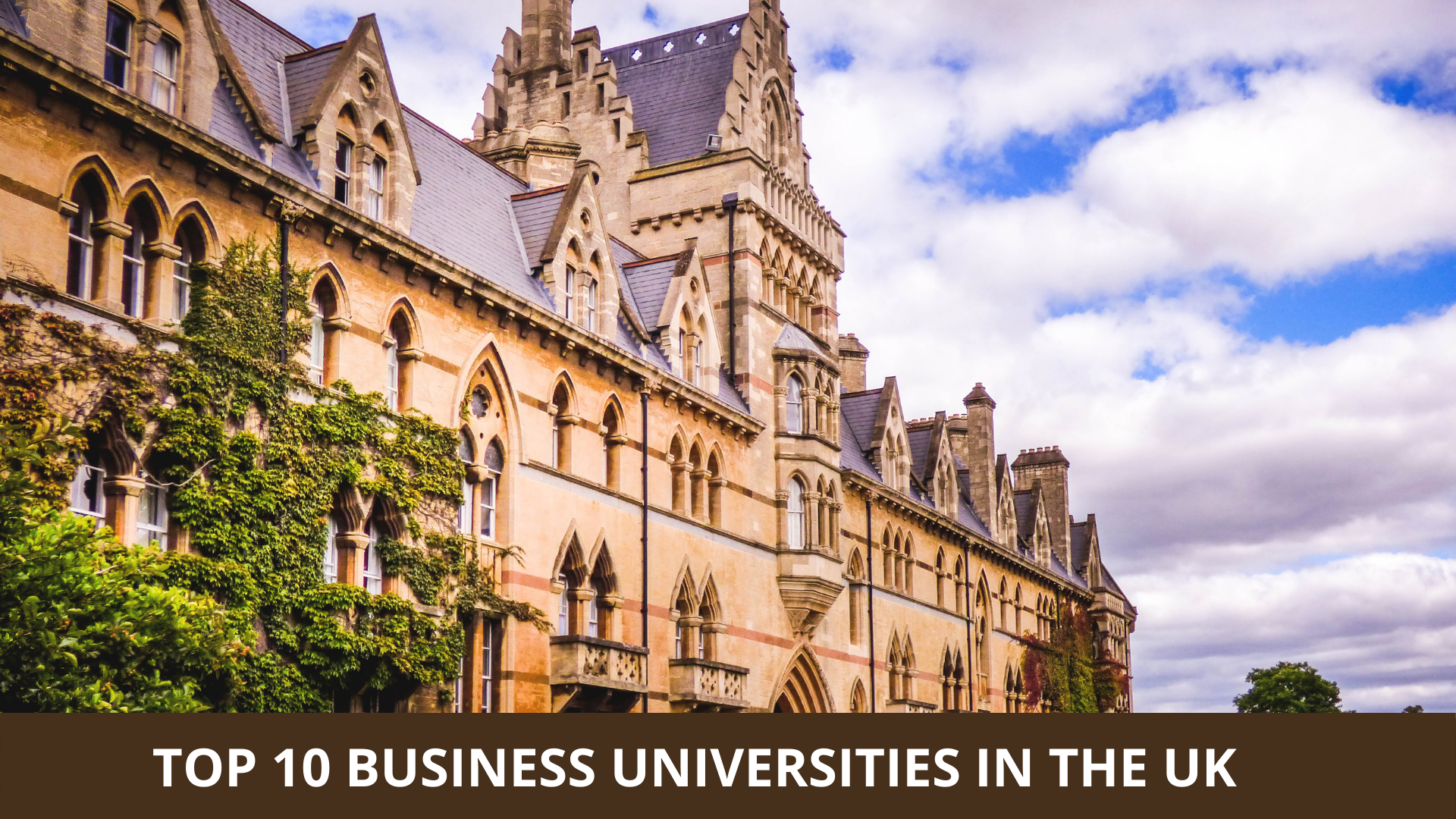 Top 10 Business Universities in the UK